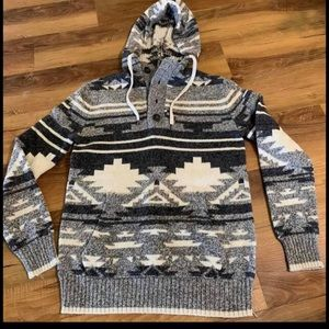 Boys American Eagle sweater hoodie size 12